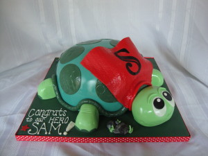 turtle icing cake