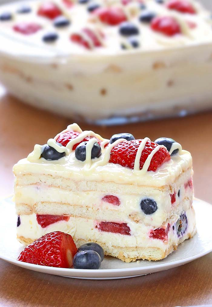 Th Of July Ice Box Cake